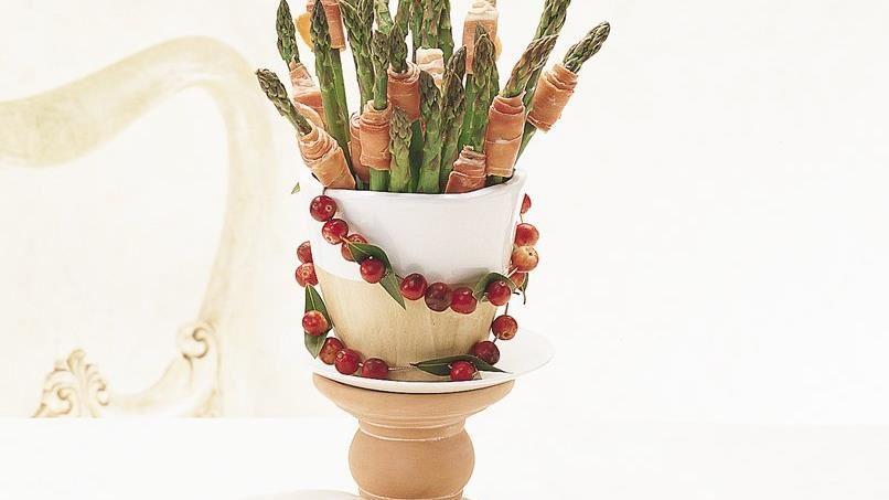 Asparagus & Prosciutto Vase