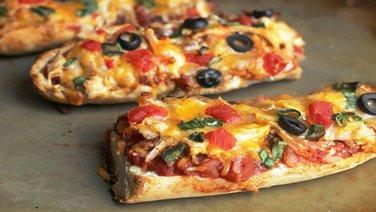 Chicken Taco French Bread Pizza