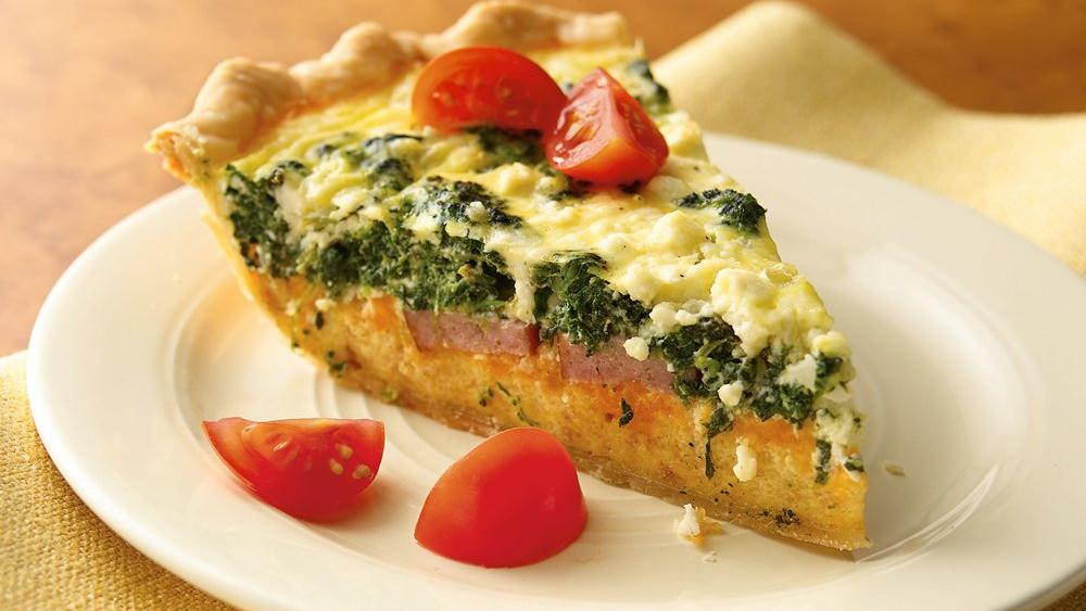 Spinach, Sausage and Feta Quiche
