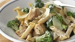 Pasta con Pollo, Brócoli y Queso Parmesano