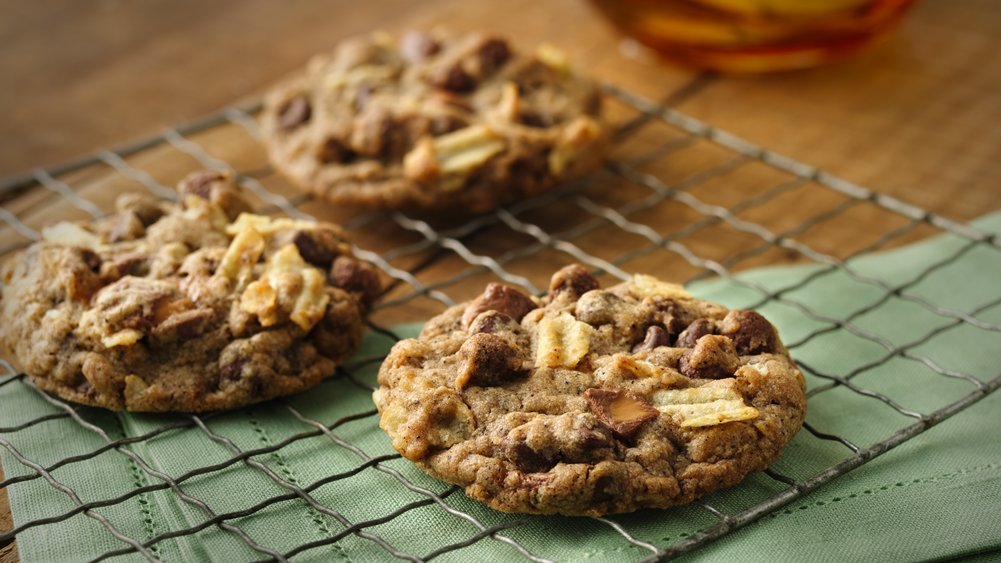 Chocolate and Caramel Compost Cookies