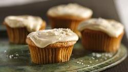 Spiced Apple Cupcakes with Salted Caramel Frosting