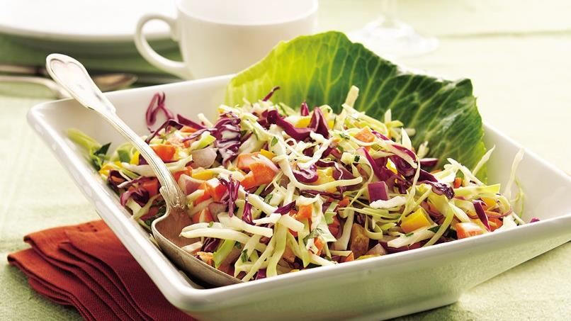 Coleslaw with Creamy Basil Dressing