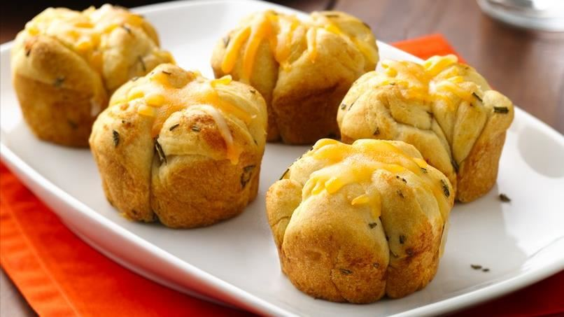 Cheesy Rosemary Monkey Bread Rolls