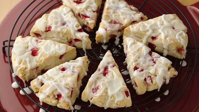 Gluten-Free Strawberry Lime Scones