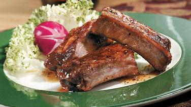 Pork Riblets with Honey-Pepper Glaze
