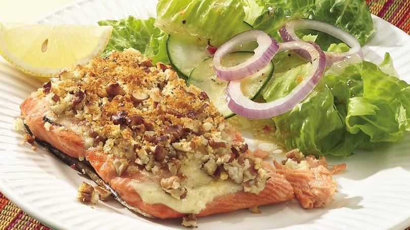 Pecan-Crusted Grilled Salmon