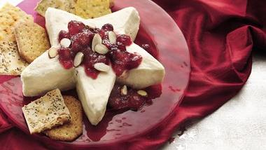 Cranberry-Topped Three-Cheese Spread