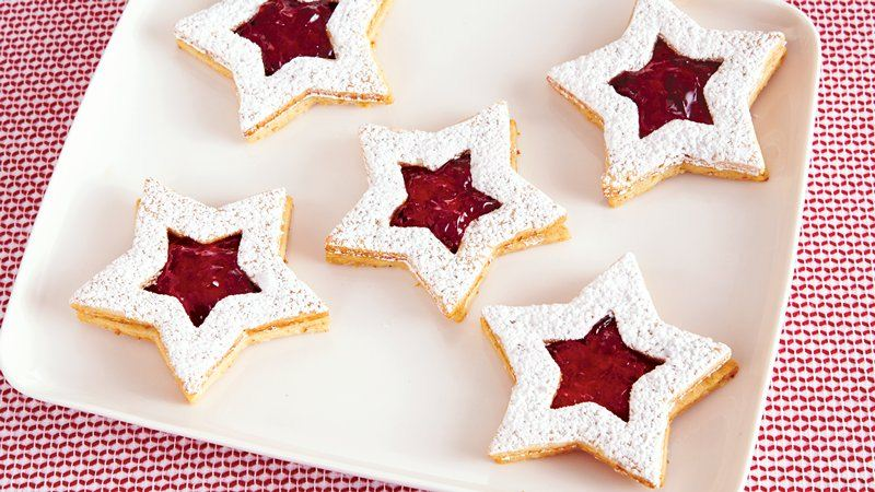 Linzer Star Christmas Cookies recipe from Betty Crocker