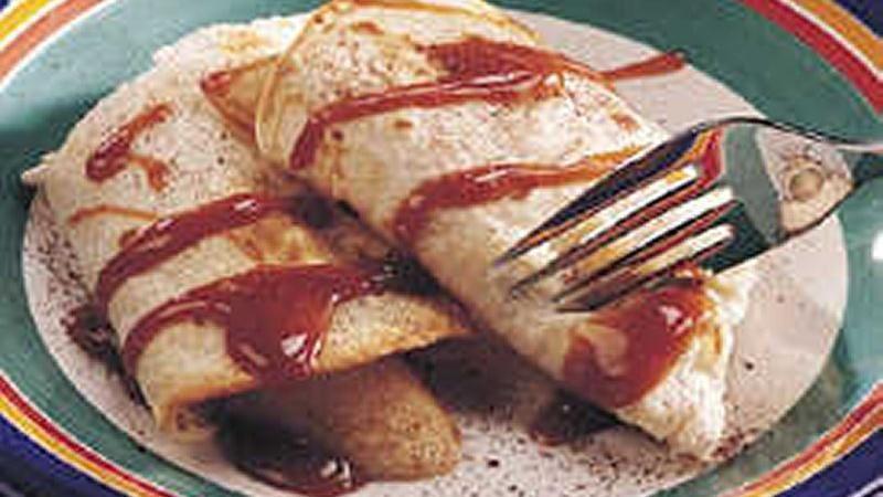 Caramel-Banana Roll-Ups