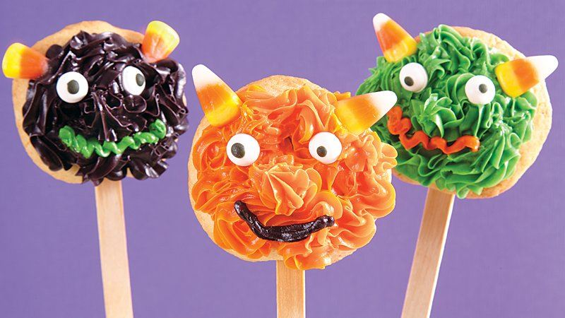 Silly Monster Cookie Pops