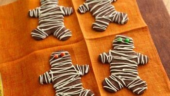 Chocolate Mocha Mummy Cookies