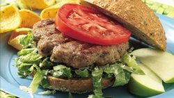 Grilled Caesar Turkey Burgers