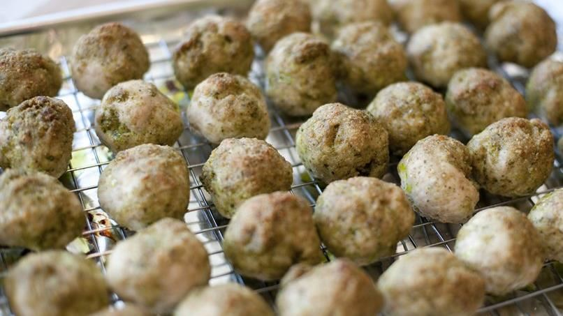 Turkey-Pesto Meatballs