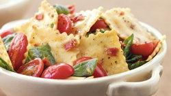 Bacon-Tomato-Spinach Ravioli Toss