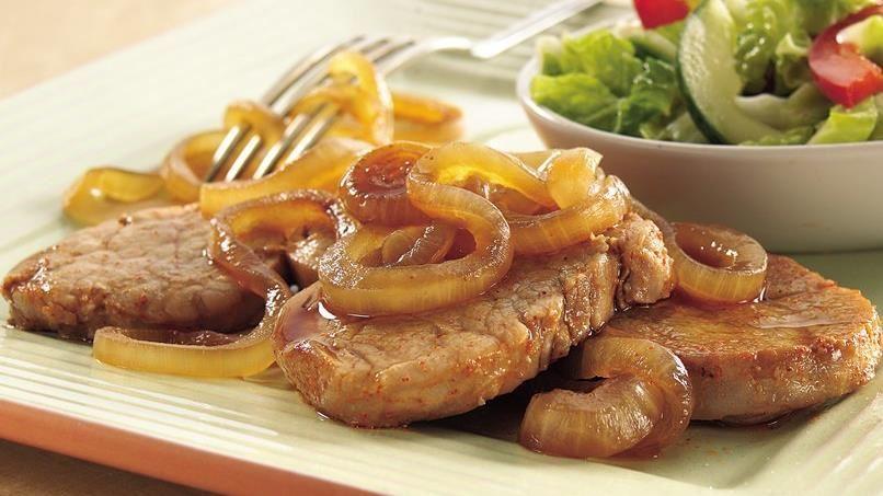Pork with Caramelized Onions