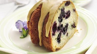 Blueberry Coffee Cake with Maple Glaze