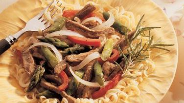 Lamb and Asparagus Stir-Fry