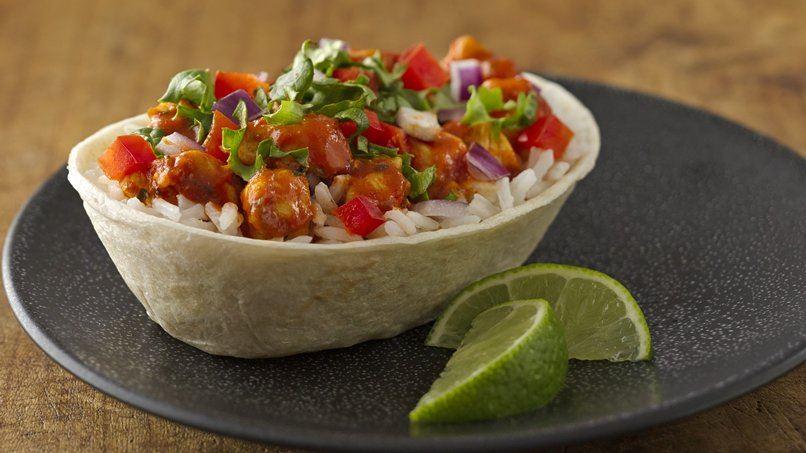 Southwest Chipotle Chicken Burrito Bowls
