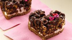 Corazones de Malvavisco y Cheerios® de Chocolate
