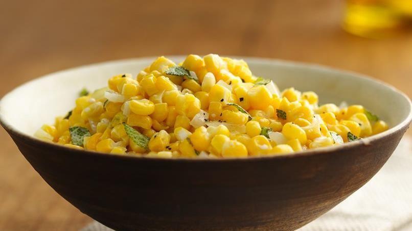 Sweet Corn with Sage