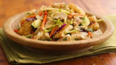 Sesame-Crouton Asian Chicken Salad