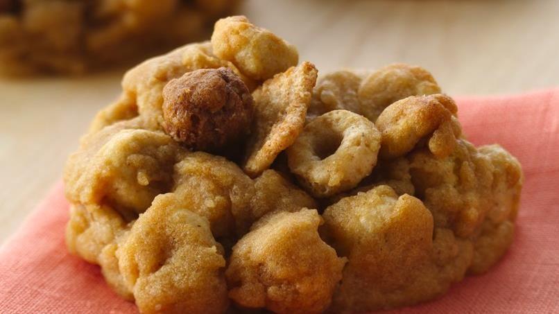 Peanut Butter Honey Crunch Cookies