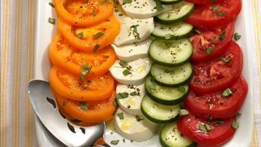 Cucumber and Tomato Salad Caprese
