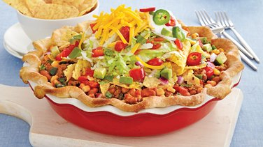 Salad-Topped Taco Pie