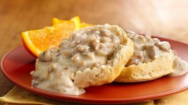 Sausage Gravy over Grands!® Biscuits