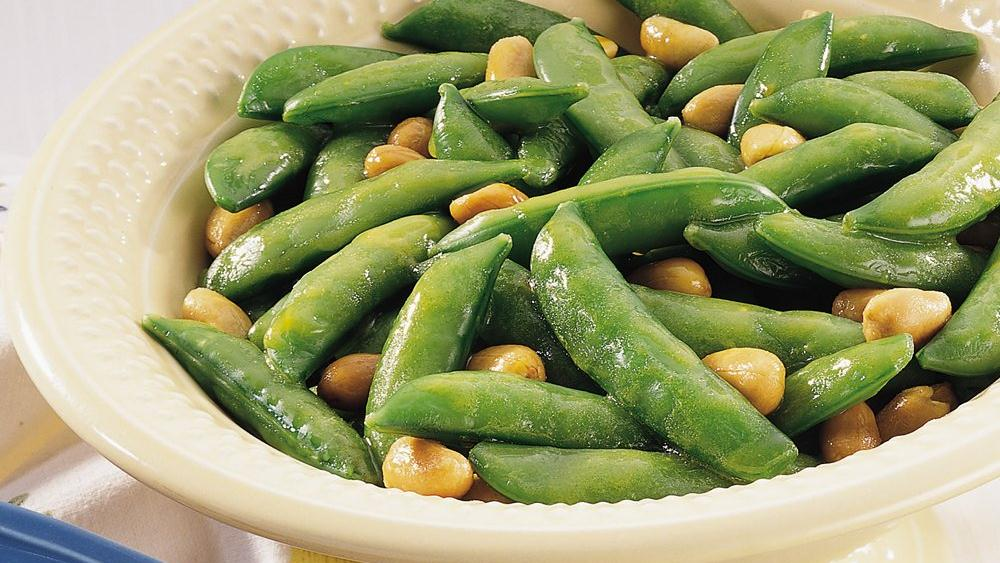 Honey-Nut Snap Peas