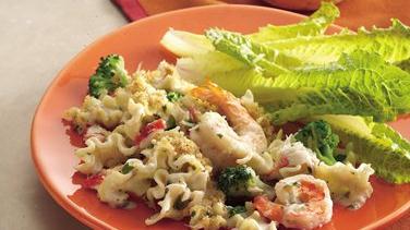 Alfredo Seafood Casserole