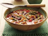 Slow-Cooker Two-Bean Minestrone