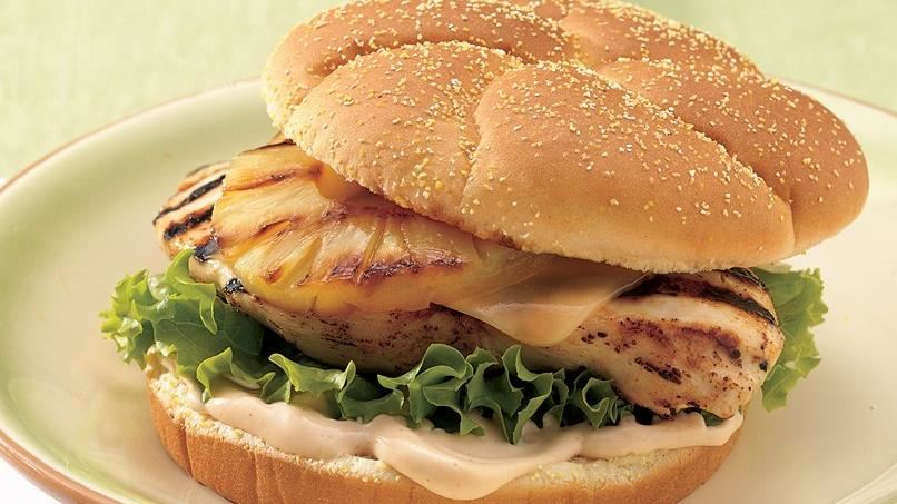 Grilled Chicken and Pineapple Sandwiches