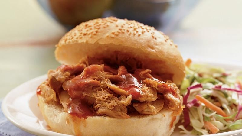 Slow-Cooker Turkey BBQ Sandwiches
