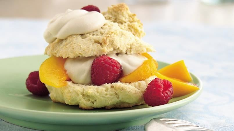 Summer Fruit Shortcakes with Maple Cream