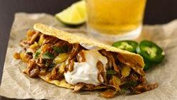 Beer-Braised Chicken Tacos