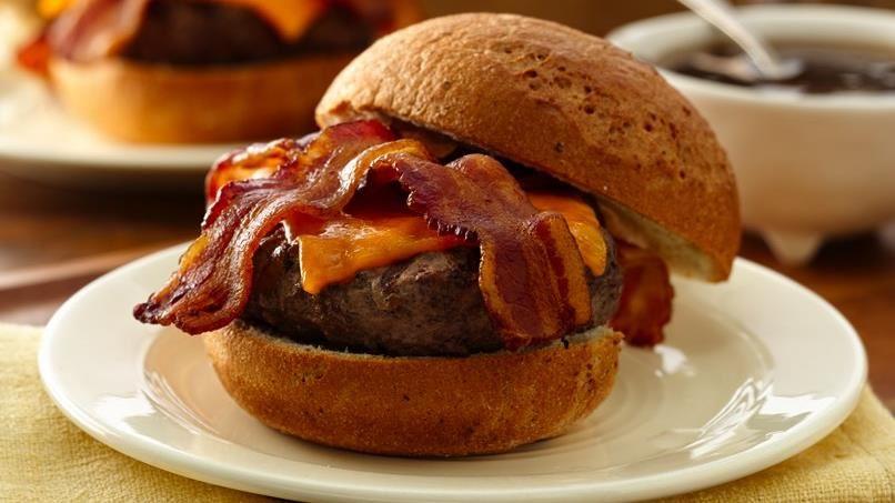 Bacon Cheddar French Onion Burgers