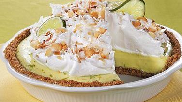 Coconut-Macadamia Key Lime Pie