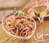 Linguine with Spicy Chicken Sauce