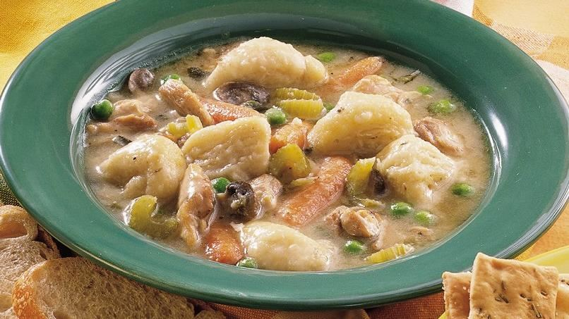 Slow-Cooked Chicken and Dumplings