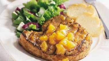 Pork Chops with Apricot Chutney