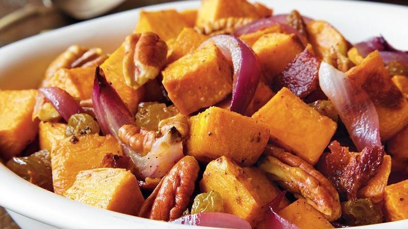 Sweet Potato Salad with Bacon Vinaigrette