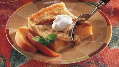 Peachy Custard Dessert