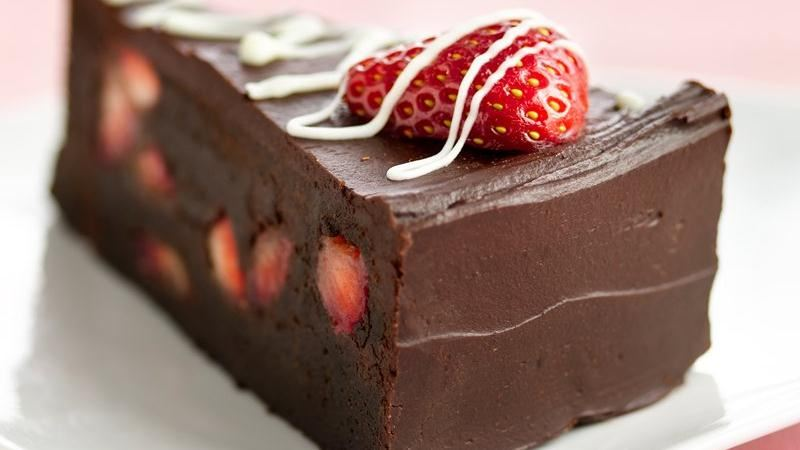 Fudge Lover S Strawberry Truffle Cake Recipe From Betty