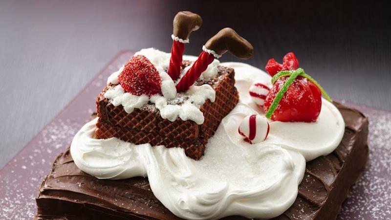 Stuck Santa Cake