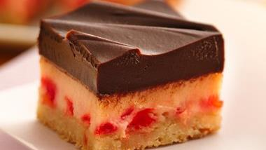 Choco-Cherry Cheesecake Bars