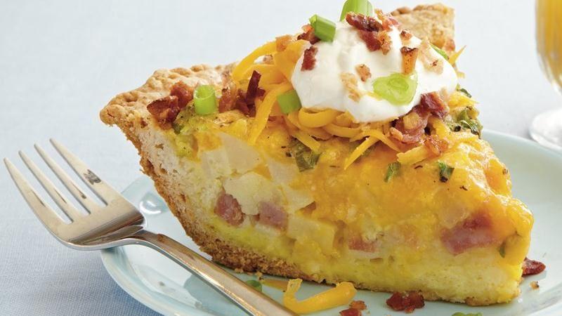 Loaded Potato Quiche recipe from Betty Crocker