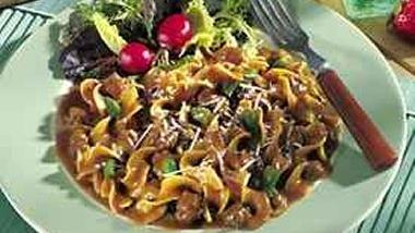 Beef Pasta and Green Beans