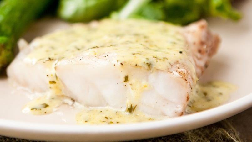 Grouper with Lemon-Basil Cream Sauce